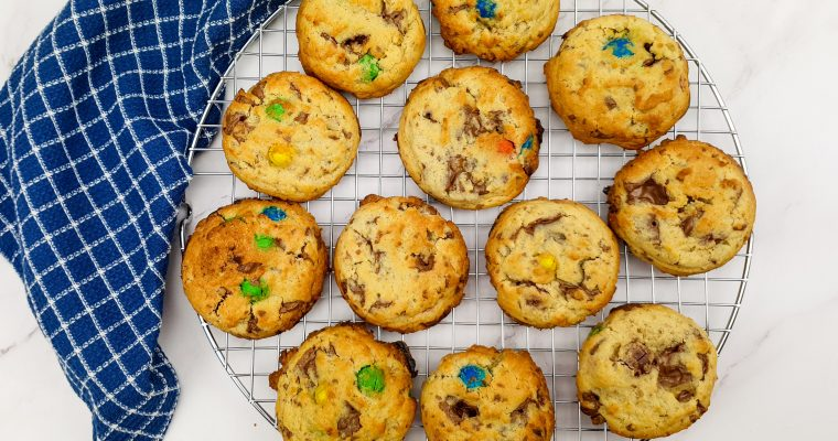 M&M Cookies met Tony's Chocolonely salted caramel