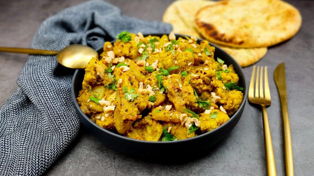 Aloo gobi: Indiase curry van aardappel en bloemkool