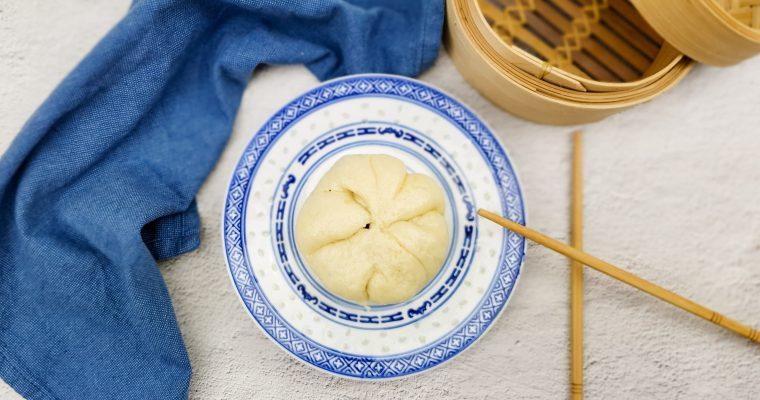 Broodje bapao met vulling van oesterzwam