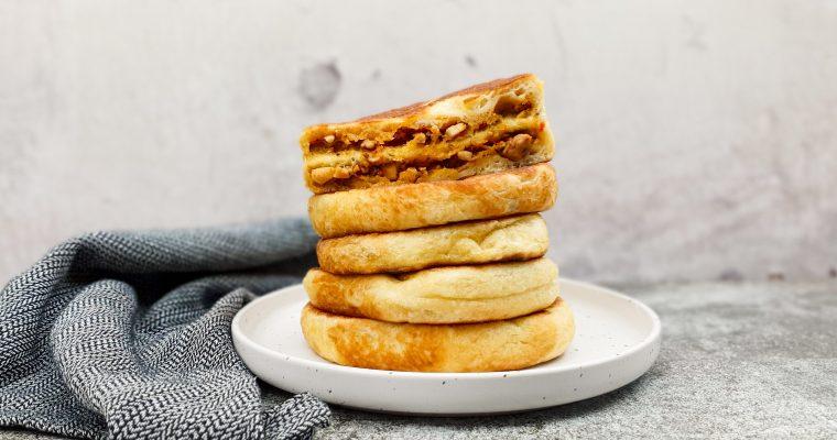 Panbroodjes met pesto – kipvulling