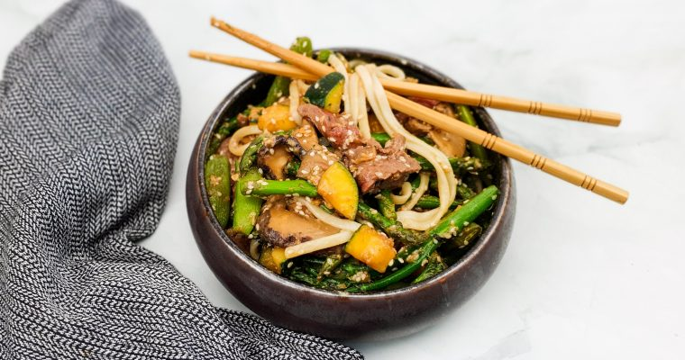 Miso biefstuk met groenten