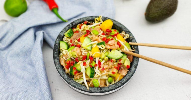 Noodle salade met nuoc cham