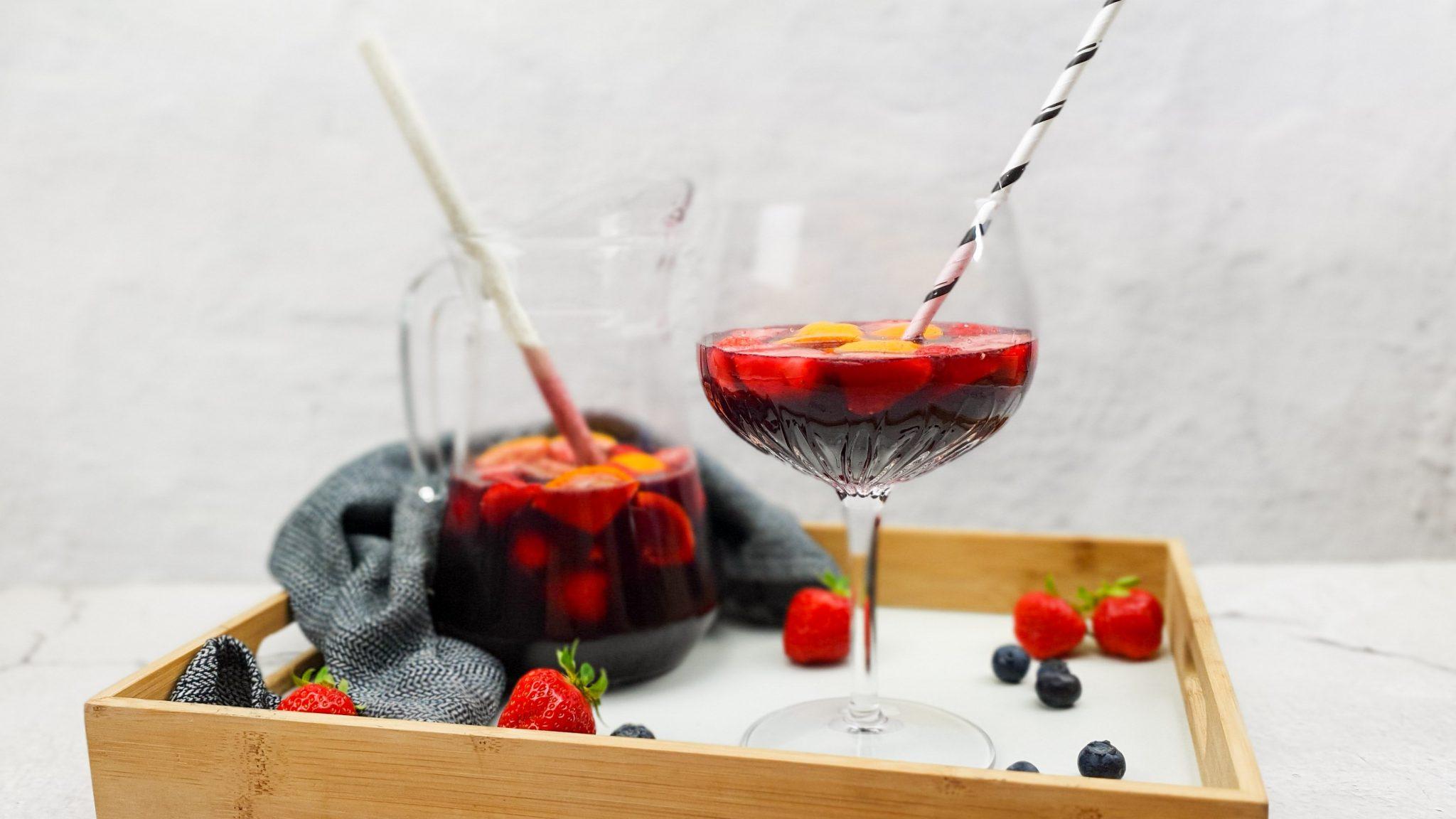 Sangria met licor 43 en vers fruit
