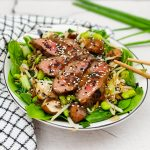 Beef teriyaki salade