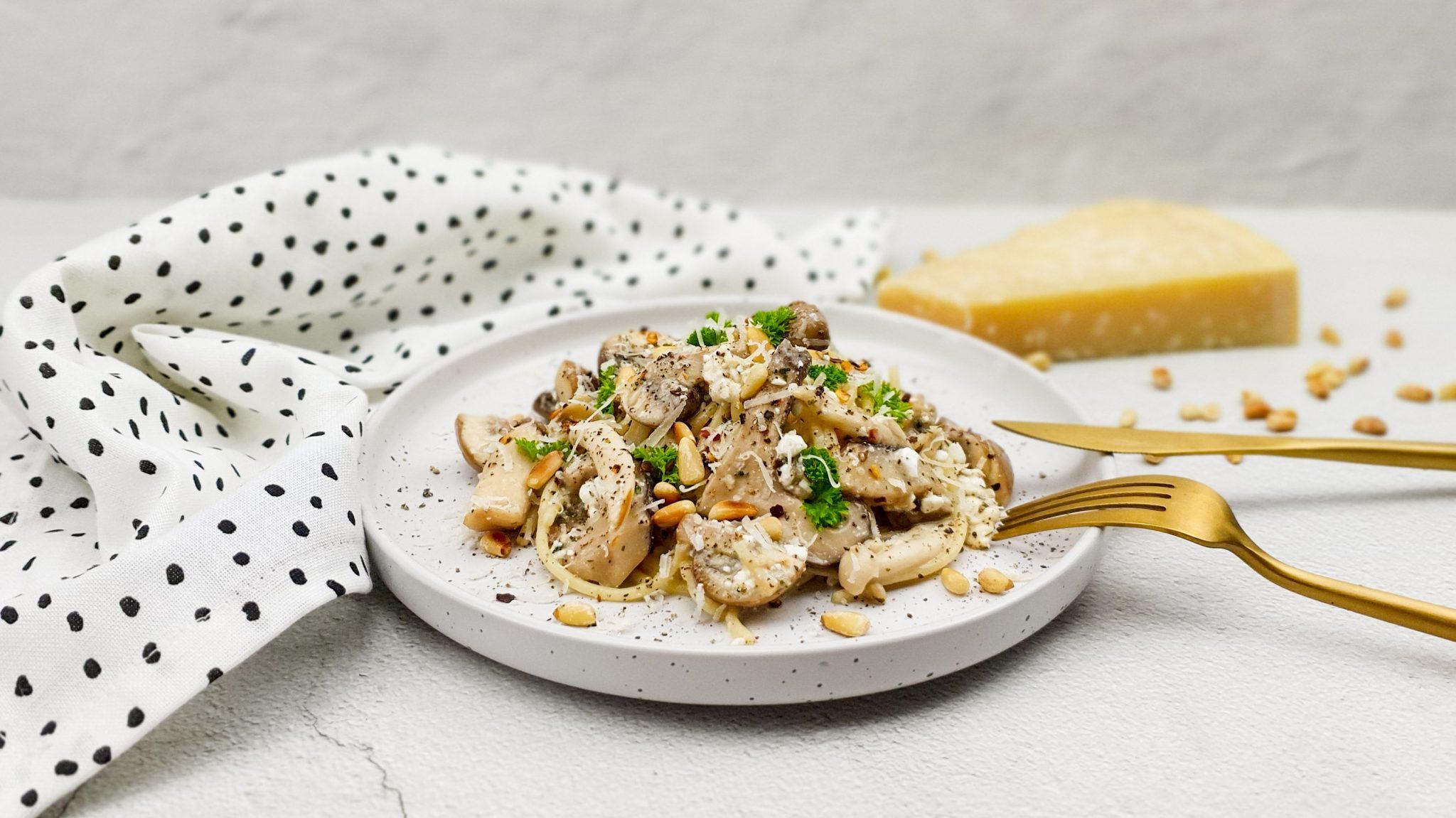Spaghetti met paddenstoelen