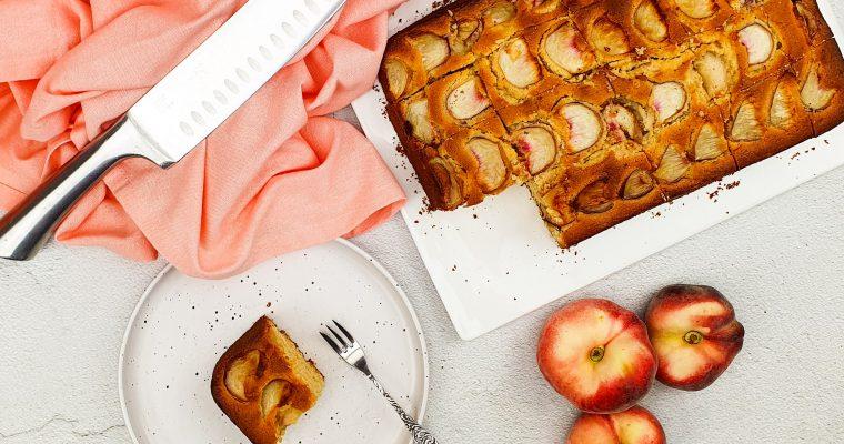 Perzik plaatcake met peachtree